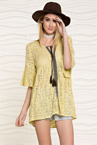 Novelty Crochet Lace Tunic