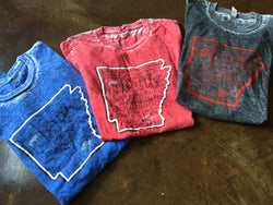 Acid Washed Tee - The natural State - Arkansas Southern Land