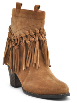 Sbicca Sound Fringe Booties