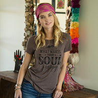 "Tee - Espresso ""Soul Happy"" Perfect Fit Tee"