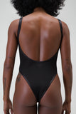 Sleeveless drop back mesh body back