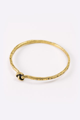 Ariana - Antique Gold Plated Knot Bracelet 3/4 Image