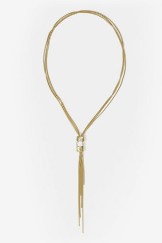 Bonnie - Matte Gold & Silver Plated Tassel Necklace