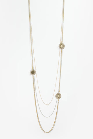 Erika - Gold & Silver Layered Filigree Necklace
