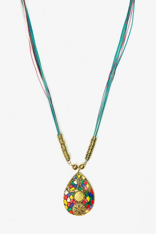 Her Curiosity Mosaic inspired pendant Kimana Necklace full image