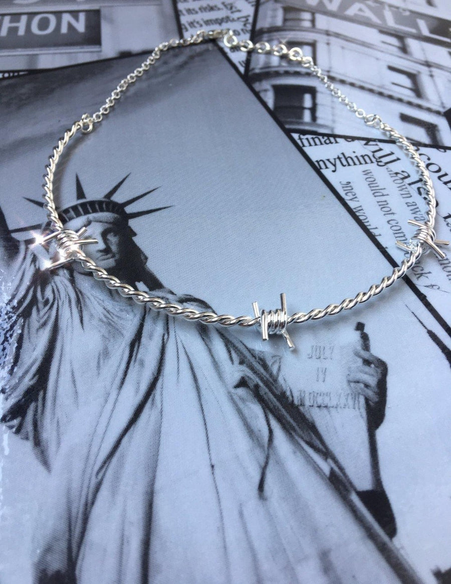 The Kabul House Essential Barb Wire Choker - Blingistan