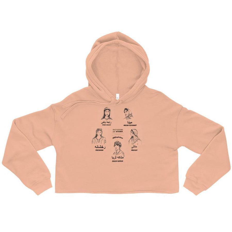We Are The Daughters of Afghan Witches Crop Top Hoodie