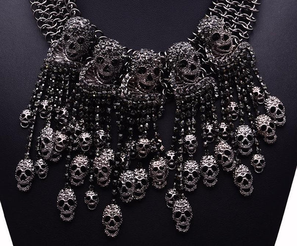 Skeleton Head Collar Skull Necklace