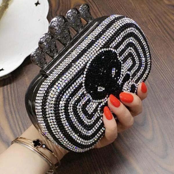 Diamonds Skull Mini Handbags - Badassnow
