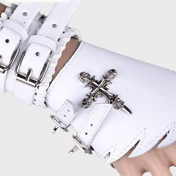 Leather Cross Bracelet Gloves