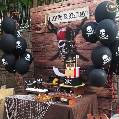 20pcs Skull Print Latex Balloons