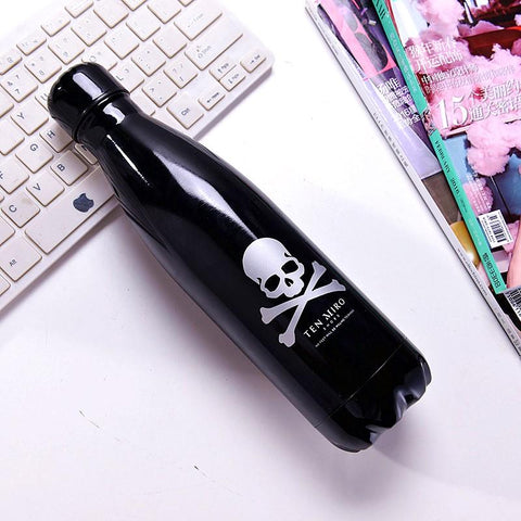 2pcs 500ml Skull Bowling Thermal Insulation Bottle