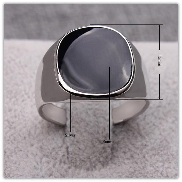 Black Classical Ring - Badassnow
