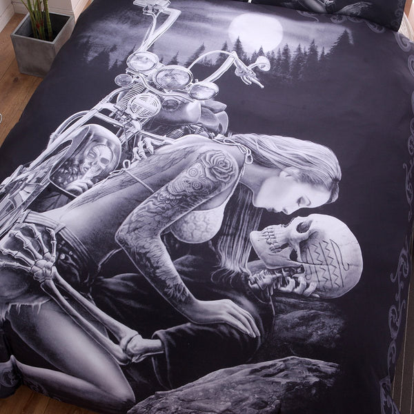 Motorcycle Skull Bedding Sets
