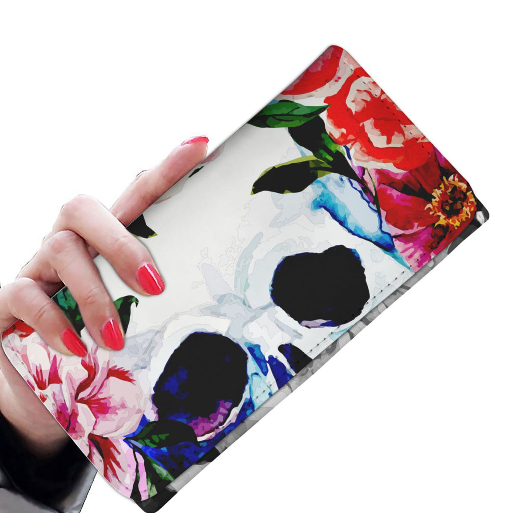 Colorful Skull Women Wallet - Badassnow