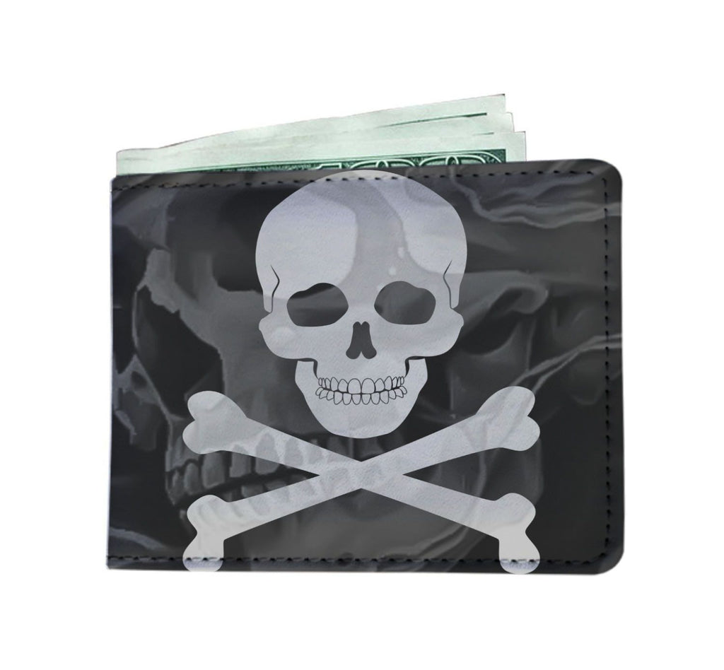 Cross Skull Mens Wallet - Badassnow