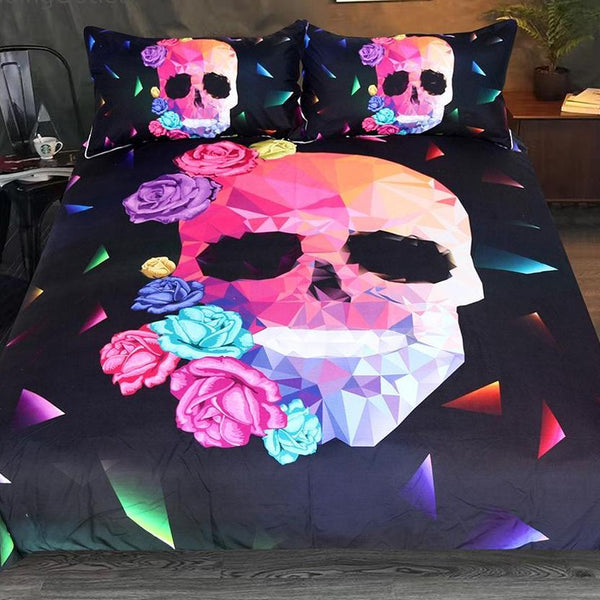 Geometric Skull Bedding Set