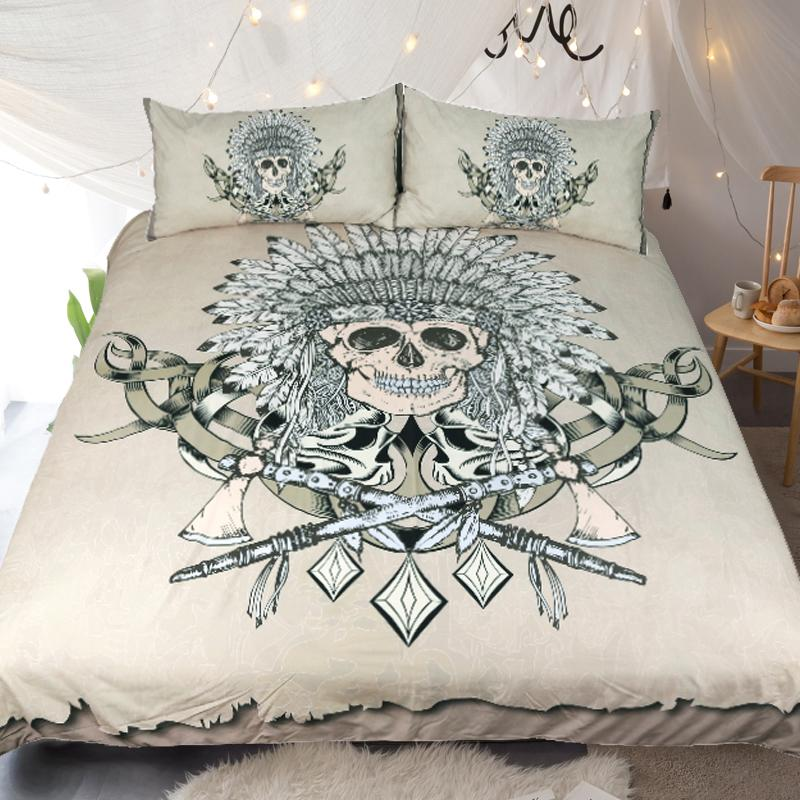Indian Skull Bedding Set