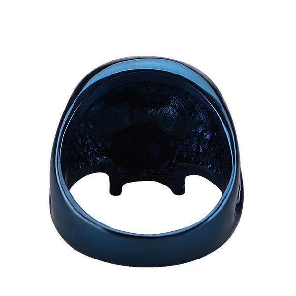 Blue Skull Ring - Badassnow