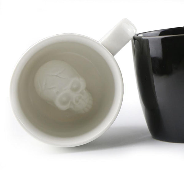 Creative 3D Skull Coffee Mug Surprise - Badassnow