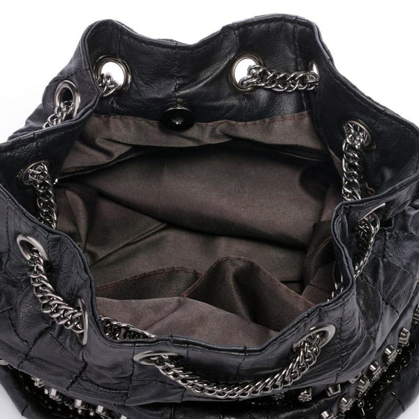 Genuine Leather Skull Bag
