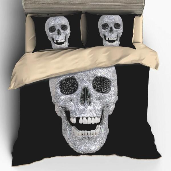 Diamond Skull Bedding Set - Badassnow