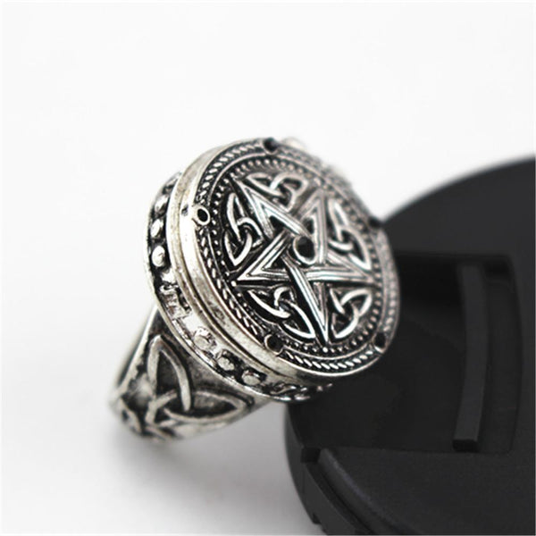 British Style Gothic Punk Black Rings - Badassnow