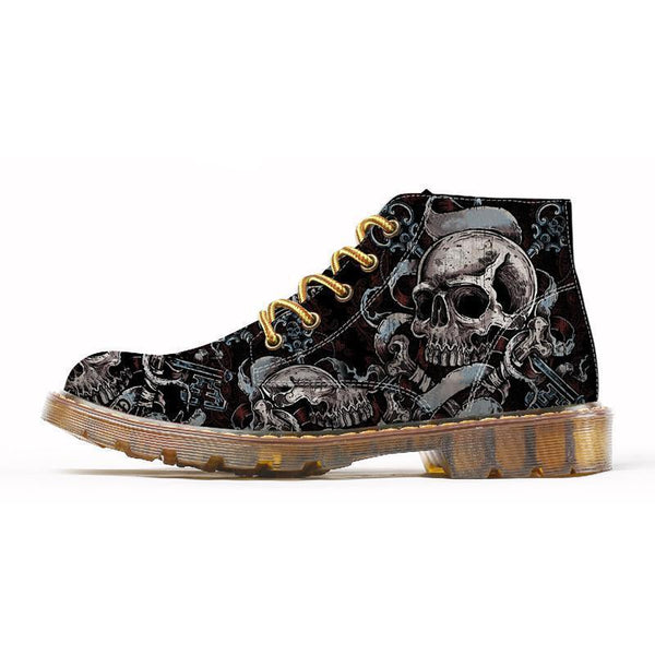 Skull Warm Ankle Boots
