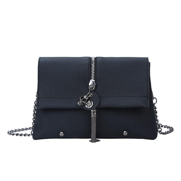 Skull Rivet Pu Leather Ladies Clutch Bag