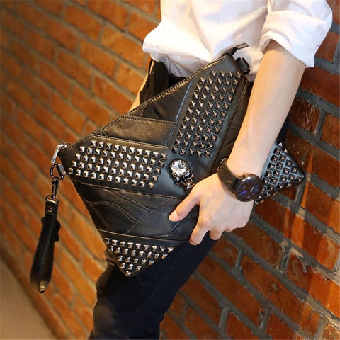 Clutch Black Skull Crossbody Bag - Badassnow
