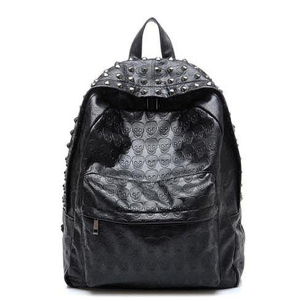 Skull Leather Backpacks