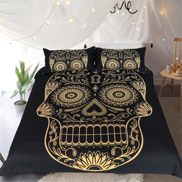 Golden Skull Bedding