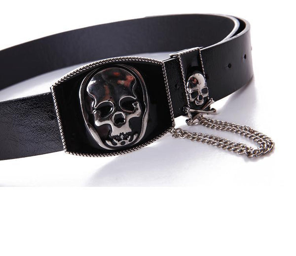 Leather Chain Skull Hip Hop Belts