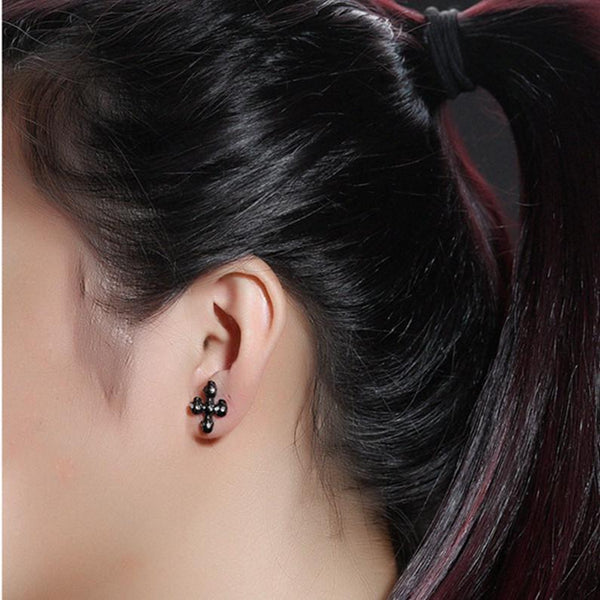 Skull Cross Stud Earrings