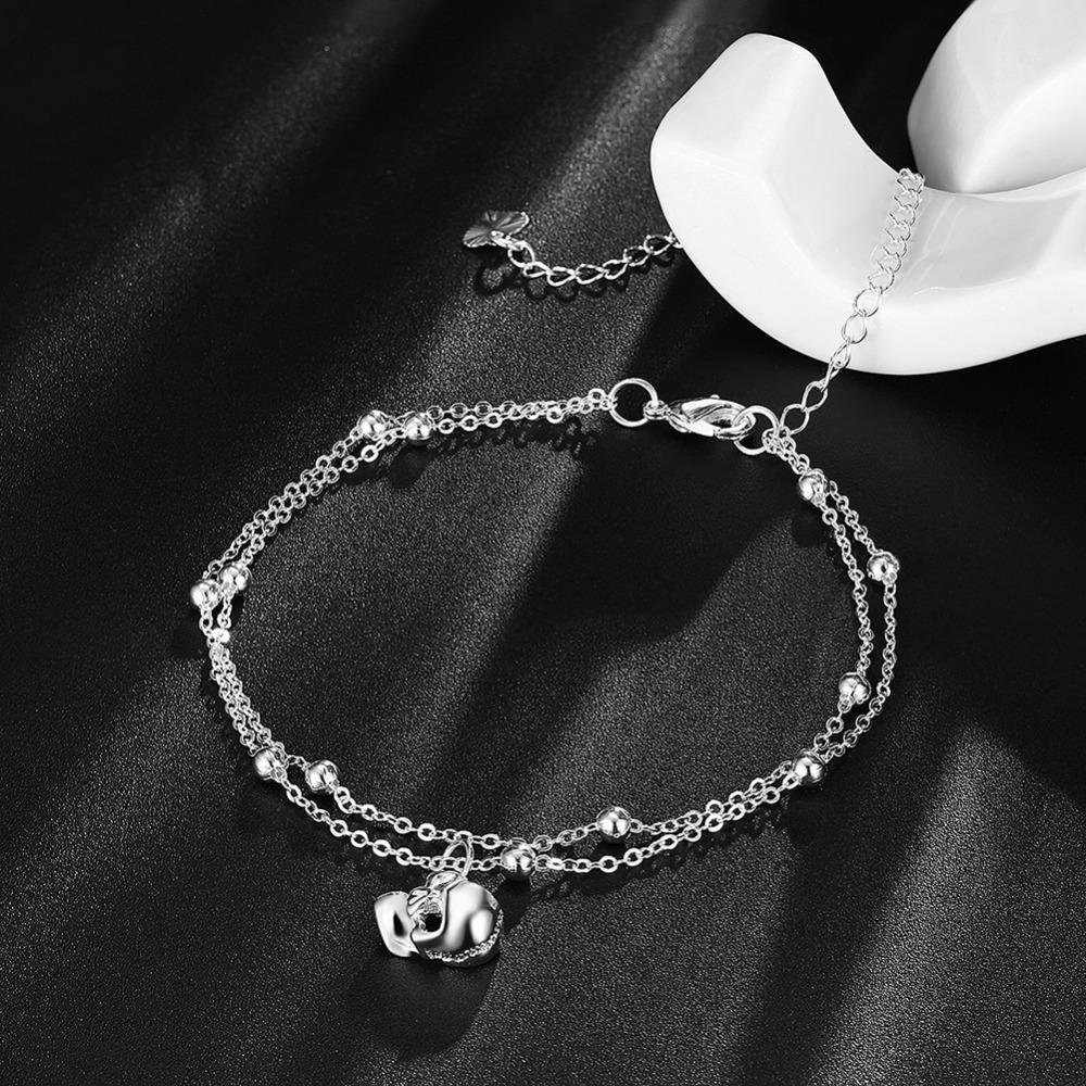 Skull Pendant Silver Plated Anklets