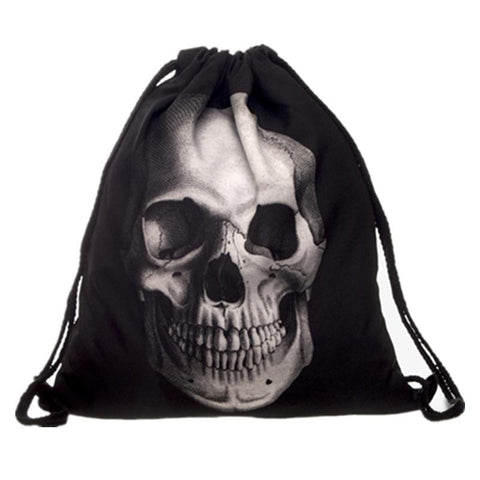 Black Skull Backpack - Badassnow