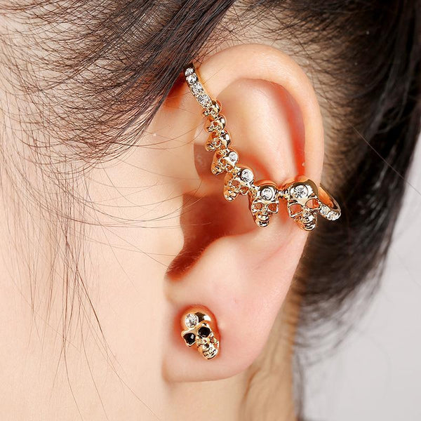Skull Double Side Earrings