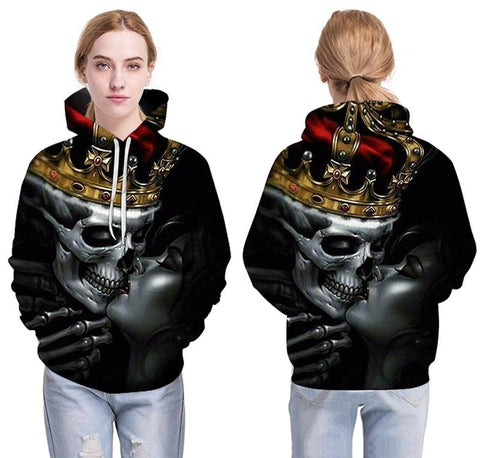 3d Hoodies Metal Skulls Kiss