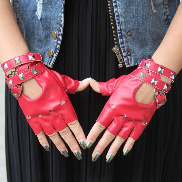 Sexy Disco Dance Rock-and-Roll Fingerless Gloves