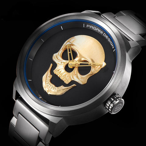 3D Skull Fashion Men's Watch - Badassnow