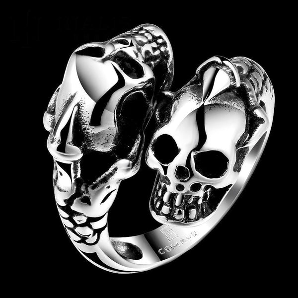 Punk Men Skull Ring