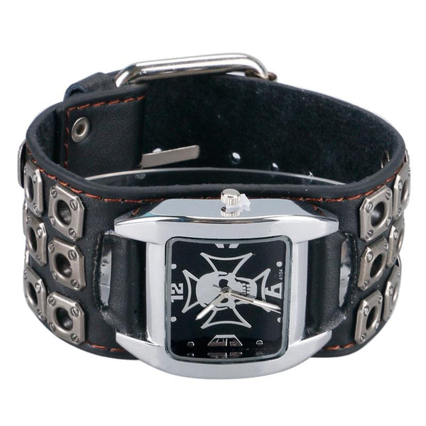 Gothic Style Cool Metal Hollow Skull Watch