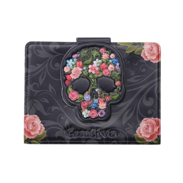 Skull Head Cards ID Credit Card Holder Pocket