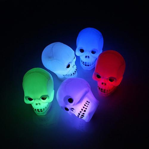 Skull Shape Multicolor Flash Night