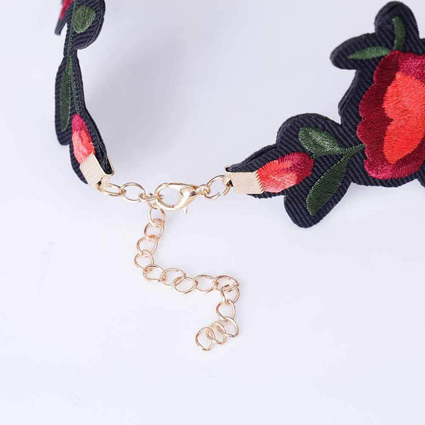 Flower Choker Necklace - Badassnow