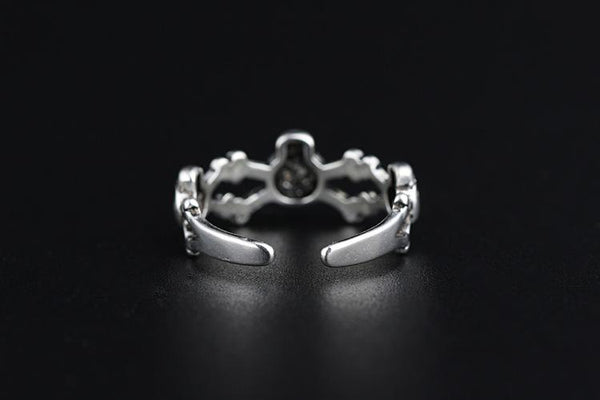 Adjustable Silver Color Skull Ring - Badassnow