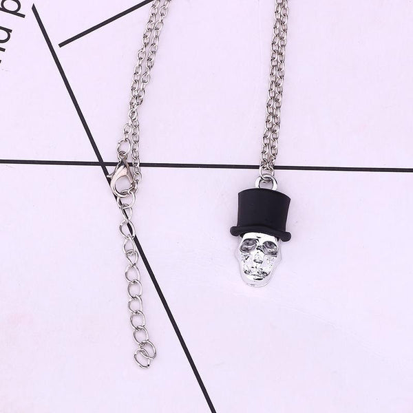 Enamel Skull Pendants Necklace - Badassnow