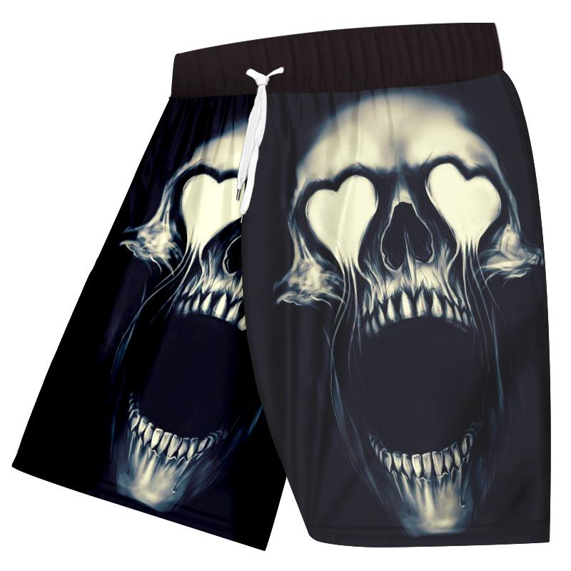Sexy Metal Skull 3d Printed Shorts