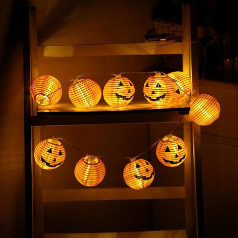 1 Set Pumpkin 10 LED String Lights Halloween Decoration