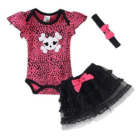 Baby Girls' Clothing Set Skull